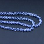 K9 Glass Cut Ball Crystal 32 Faceted Ball Beads Lilac 4mm Glass Loose Spacer Bead For <b>Jewelry</b> <b>Making</b> Home Decoration
