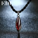 EDI Unique 925 Sterling <b>Silver</b> Garnet Pendants Natural Chalcedony Sterling-<b>silver</b>-jewelry <b>Necklaces</b> For Women Best Gifts
