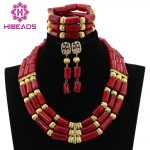 Natural Real Coral Beads Set 2017 Latest Nigerian African Wedding Beads <b>Necklace</b> <b>Jewelry</b> Set Trendy Design Free Shipping ABL092