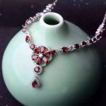 Natural red garnet Necklace natural gemstone Pendant Necklace S925 <b>silver</b> Fashion Luxury flower clusters women wedding <b>Jewelry</b>