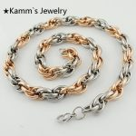 2017 Hot <b>Accessories</b> Rope Stainless Steel Necklace Chain For Men's Women's christmas gifts <b>Jewelry</b> Wholesale&Free Shipping KN064