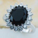 Black Onyx 925 Sterling Silver Top Quality Fancy <b>Jewelry</b> wedding Ring Size 5 6 7 8 9 10 11 F1178