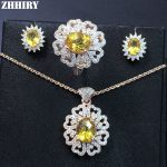 Genuine Gems Jewelry Sets Natural Citrine Actual 925 Solid Sterling <b>Silver</b> Women Necklace <b>Earrings</b> Ring