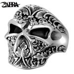 ZABRA Vintage Real 925 Sterling Silver Skull Ring Men Adjustable High Polished Handmade Rings For Male Punk Rock Gothic <b>Jewelry</b>
