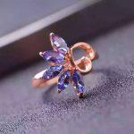 Natural blue tanzanite Ring Natural gemstone ring 925 <b>sterling</b> <b>silver</b> trendy elegant heart Flowers women party fine <b>Jewelry</b>