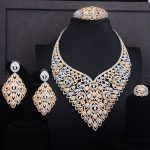 GODKI 109mm Leaves Luxury Women Africa Wedding Naija Bride Cubic Zirconia Choker <b>Necklace</b> Dubai <b>Jewelry</b> Set <b>Jewelry</b> Addiction