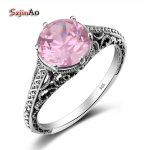 Szjinao <b>Handmade</b> Punk Fashion Rings for Women 2017 Silver 925 <b>Jewelry</b> Classic Pink Crystal Valentine Day Gifts skull Ring bijoux