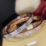 Brand Pure 925 Sterling Silver <b>Jewelry</b> For Women silver rose Color LOVE Bangle Full Stone cuff Bangle <b>Wedding</b> <b>Jewelry</b> Easy Lock