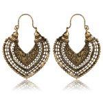SHOWTRUE Vintage bronze Hollow Heart Earrings for Women Short Dangle earrings Indian <b>Native</b> <b>American</b> <b>Jewelry</b> Boho Earrings