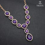 TBJ, Graceful <b>Necklace</b> for party with natural african amethyst 11.5ct gemstone fine jewelry in 925 sterling <b>silver</b> with gift box
