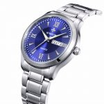 Top Brand Men Watches Luminous Hour Day Date Clock Male <b>Silver</b> Stainless Steel Luxury Quartz Watch Men Casual Sport Wrist Watch