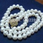 New hot!8-9mm White pearl necklace 18 inch 2 piece/lot DIY handmade women <b>jewelry</b> <b>making</b> design wholesale and retail