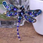 Blucome <b>Antique</b> Silver Dragonfly Brooches <b>Jewelry</b> Perfect Crystal Brooch Pin Vintage Brooch Bouquet Fashion Hijab Accessories
