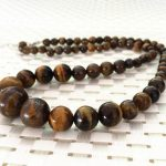 Fashion yellow tiger eye natural stone 6-12mm round beads diy charming necklace <b>jewelry</b> <b>making</b> 18 inch BV178