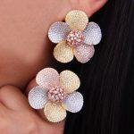 GODKI 40mm Luxury Boom Flower AAA Cubic Zirconia Brand New Engagement Resizable Ring Earring <b>Jewelry</b> Set For Women