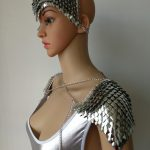 New Fashion Style B756 <b>Silver</b> Scalemail Mermaid Fish Scales Head Chains Layers Head Hair Chains <b>Jewelry</b> 2 Colors
