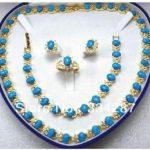 Beautiful Turquoises Necklace/<b>Bracelet</b>/Ring/Earring Set
