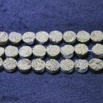 10mm Titanium Druzy Necklace Coin Beads Pendants, Fashion Drusy Charms Stone Quartz Flat Round Beads <b>Jewelry</b> <b>Making</b> for Dinner