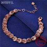 New 925 <b>Silver</b> <b>Bracelet</b> Woman Charm MultiColor 20cm Chain 100% <b>Silver</b> <b>Bracelet</b> Luxury Brand Jewelry