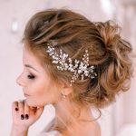 Vintage Silver Gold Hair <b>Jewelry</b> Crystals <b>Handmade</b> Flowers Hair Comb Head Pieces For Brides Wedding Women Hair Accessories HP84