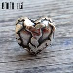 Emith Fla 925 Sterling <b>Silver</b> Stone Heart Charm Beads Fit for Original European Brand 3.0mm Bracelet & <b>Necklace</b> Pendants Jewelry