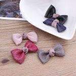 New Arrival 50PCS Glitter Chiffon Ribbon Knot Bow Patch Craft <b>Handmade</b> Girls Hair <b>Jewelry</b> headband Garment Shoes Clips Decor DIY