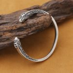 Handmade Thai 925 <b>Silver</b> SurpenBangle Sterling <b>Silver</b> Skull <b>Bracelet</b> Skeleton <b>Bracelet</b> Man <b>Bracelet</b> Pure <b>Silver</b> Snake Bangle