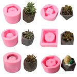1Pc Plant Pots Silicone Mold Plant Potted Cement Flower Pots Mold Tool Resin Craft DIY for Toy <b>Jewelry</b> <b>Making</b> Decorating