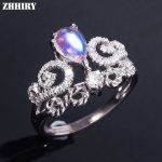 ZHHIRY Real Natural Moonstone Ring Solid 925 <b>Sterling</b> <b>Silver</b> For Woman Genuine Gemstone Rings Girl Fine <b>Jewelry</b>