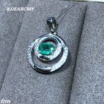 KJJEAXCMY boutique <b>jewelry</b>,Natural emerald ladies pendant 925 sterling <b>silver</b> inlaid chain