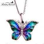 RainMarch Enamel Butterf <b>Silver</b> Pendant For Women Necklace 925 <b>Sterling</b> <b>Silver</b> Necklace Pendant With CZ Enamel <b>Jewelry</b>