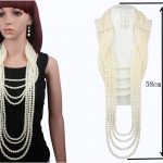 2018 New Bohemian Boho Wedding Imitation Pearl <b>Jewelry</b> Set Luxury Long Multilayer Pearls Necklace Women Earrings Sets <b>Handmade</b>