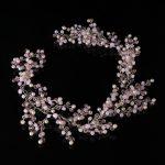 Bride Hair Band Headband Wedding Luxury Bridal <b>Handmade</b> Pink Pearl Women <b>Jewelry</b>