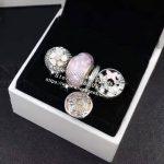 4pcs Fashion S925 Silver Spring Enamel Flower Clip Charms Beads <b>Jewelry</b> Set Fit Bracelet Necklaces <b>Jewelry</b> <b>Making</b> Woman Gift