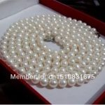 perfect Akoya white 6-7mm pearl shell necklace Fashion <b>Jewelry</b> <b>Making</b> Design Mother's Day gifts Hand Made Ornament 36″ long xu20