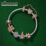DORAPANG 925 Sterling <b>Silver</b> Sparkling Surprise & Twinkling Christmas Tree Charms Fit <b>Bracelets</b> Rose & Clear CZ Women DIY Gift