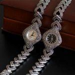 New Limited Edition Classic Elegant S925 <b>Silver</b> Pure Thai <b>Silver</b> <b>Bracelet</b> Watches Thailand Process Rhinestone Bangle Dresswatch