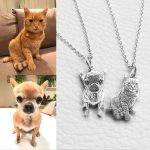 Custom Pet Photo Pendant <b>Necklace</b> Engraved Name 925 Sterling <b>Silver</b> Dog Tag <b>Necklace</b> for Women Men Memorial Best Christmas Gift