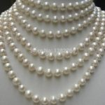8mm White shell pearl long necklace 100 inches DIY women fashion <b>jewelry</b> <b>making</b> design wholesale and retail