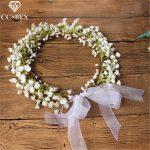 CC Flower Crowns Tiaras Hairbands Romantic Sweet Garland Wedding Hair Accessories For Bride Bridesmaids Beach <b>Jewelry</b> DIY su022