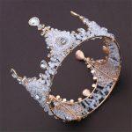 Retro Crystal Bride tiara crown <b>Handmade</b> beads headdress Queen King Tiaras and Crown Wedding accessories Hair <b>Jewelry</b> Women