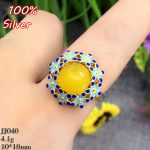Colorful 100% 925 Sterling Silver Ring Blank <b>Jewelry</b> Fit Round 10mm Cloisonne Vintage Ring Base Tray for DIY <b>Handmade</b>