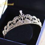 Vintage Royal Cubic Zirconia Bridal Crowns AAA+ Zircon Wedding Tiaras Women Crystal Crown Bride Hair <b>Jewelry</b> Accessories CR020