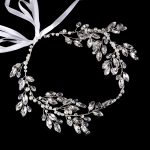 Elegant Silver Pearl Crystar Bride Headband tiara For Wedding Hair <b>Jewelry</b> Handmade Women Hairband Rhinestone Hair Accessories