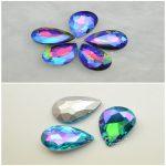 18x25mm Glass Color AB Tear Drop Fancy Stone Pointed Back <b>Jewelry</b> <b>Making</b> 50pcs