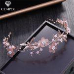 CC Hairbands Crowns <b>Handmade</b> Crystal Romantic Flowers Dragonfly Wedding Hair Accessories For Bridal Engagaement <b>Jewelry</b> TS156
