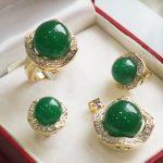 Natural Prett Lovely Women's Wedding shipping set 0052 gem pendant(14mm), earing(10mm), , ring(14mm) set silver-<b>jewelry</b> wedding