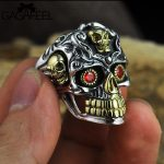GAGAFEEL Vintage Cool Open <b>Jewelry</b> Skull Rings 100% Real 925 Sterling Silver Thai Rings for Men Women <b>Fashion</b> Charms Drop Ship