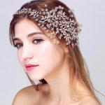 Top Quality Elegant bridal <b>Wedding</b> Party <b>jewelry</b> Gold sliver Leaves Pearl Headbands Flower Head Piece Bride Vintage Hair bands