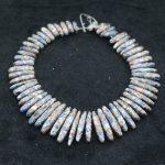 New Beautiful Blue Stone Necklace Point Pendant Beads, Top Drilled Women Fashion <b>Jewelry</b> Spike DIY <b>Making</b> Finding Gems